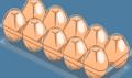 真空成形で作られた卵のパッケージ