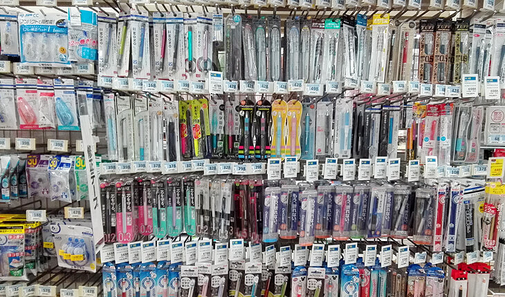 ペン売り場