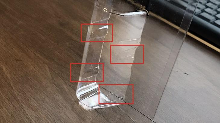 真空成形品の回転止めは、側面一部の勾配を立てることによって製品にぶつけるようにしてその接触によって回転を防ごうとするもの。