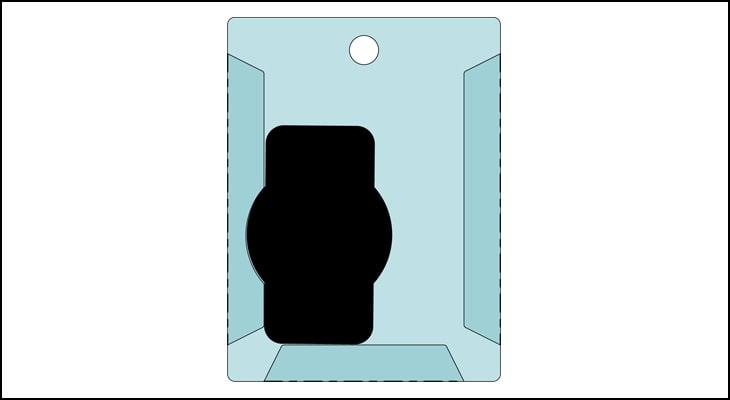 折り曲げ部分が凸部分に重ならないように形状変更して後、折り曲げる