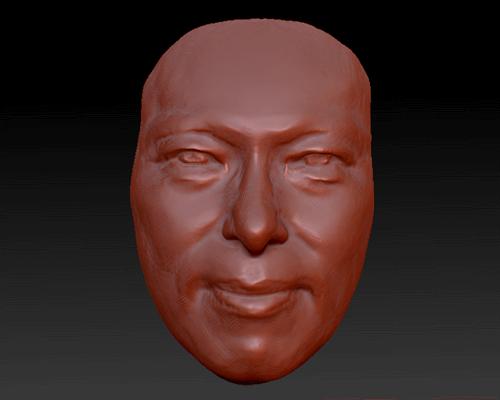 3Dスキャン機で骨格のデーターを取り、それを使って成形型を作成する。