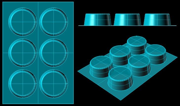 凸が間隔せまく並んでいる成形型があるが、これは成形できる?