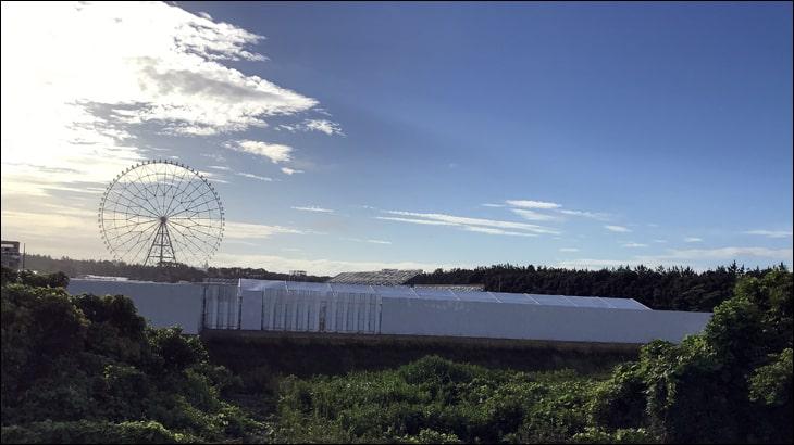 観覧車とオリンピックカヌースラローム会場