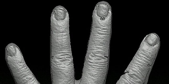 EORAで3Dスキャンした手