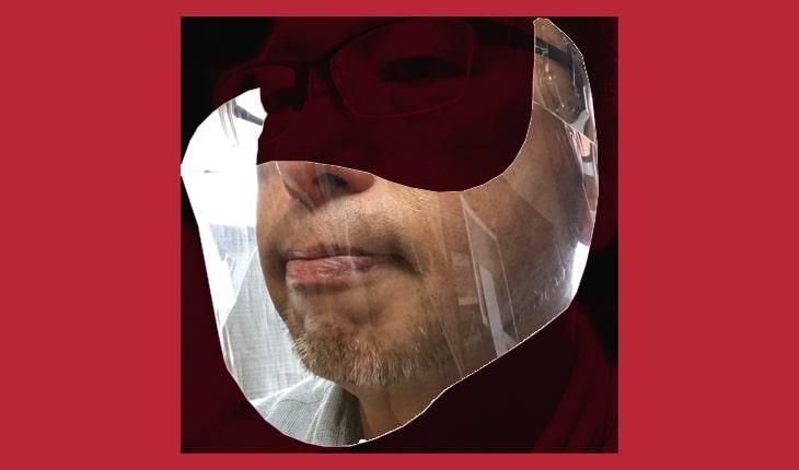 マスクで覆われる範囲は鼻の先からアゴ下まで。