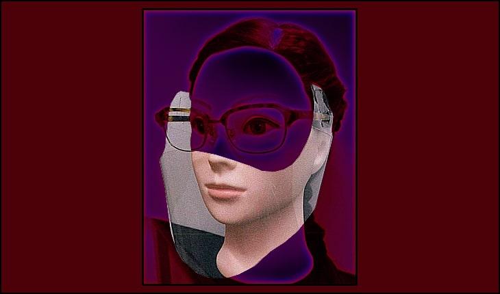メガネに取り付ける透明マスク