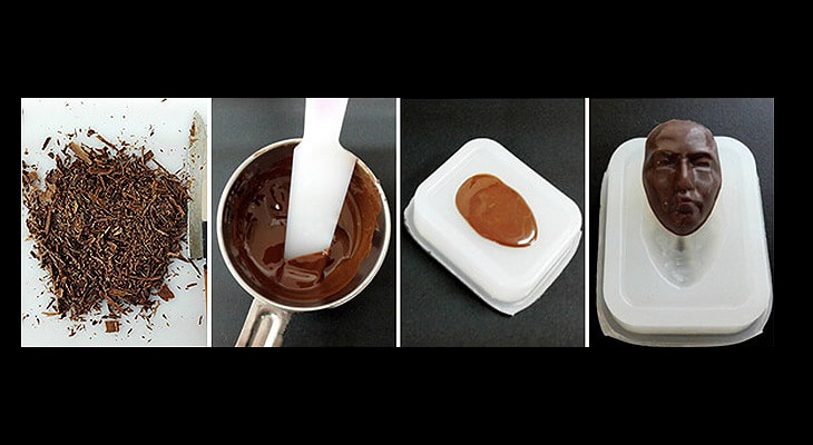 シリコン型を追加で作りチョコレートを流す